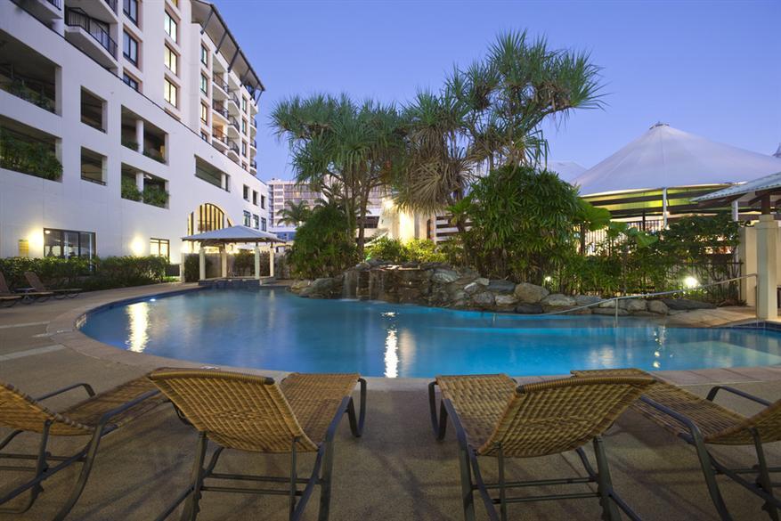 Swimming Pool At Night Mantra Esplanade Cairns