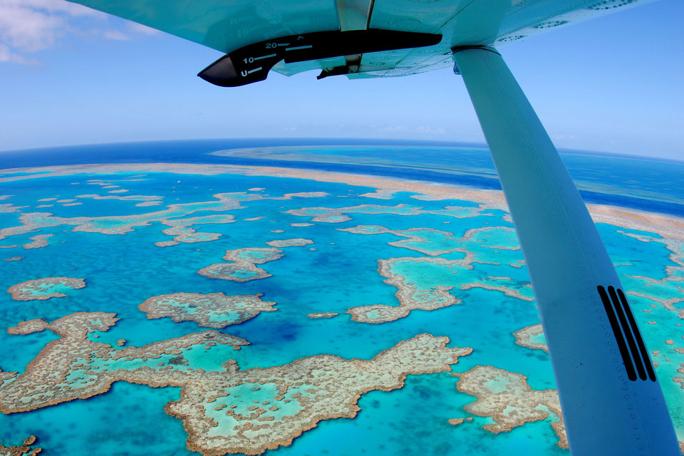 Scenic flights over Whitsunday Islands