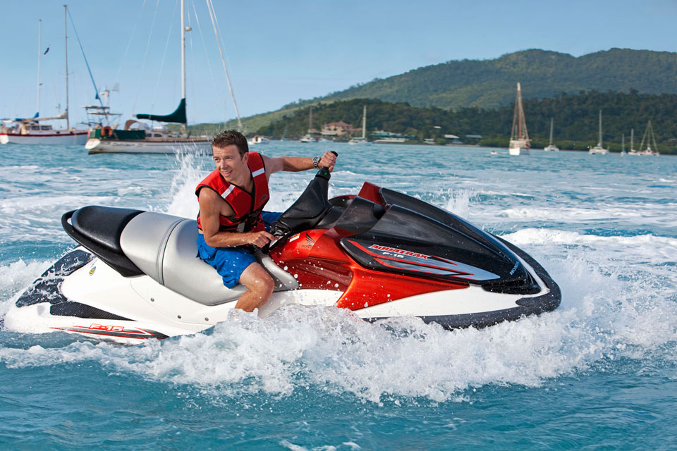 Watersport hire equipment for snorkeling, surfing and jet ski