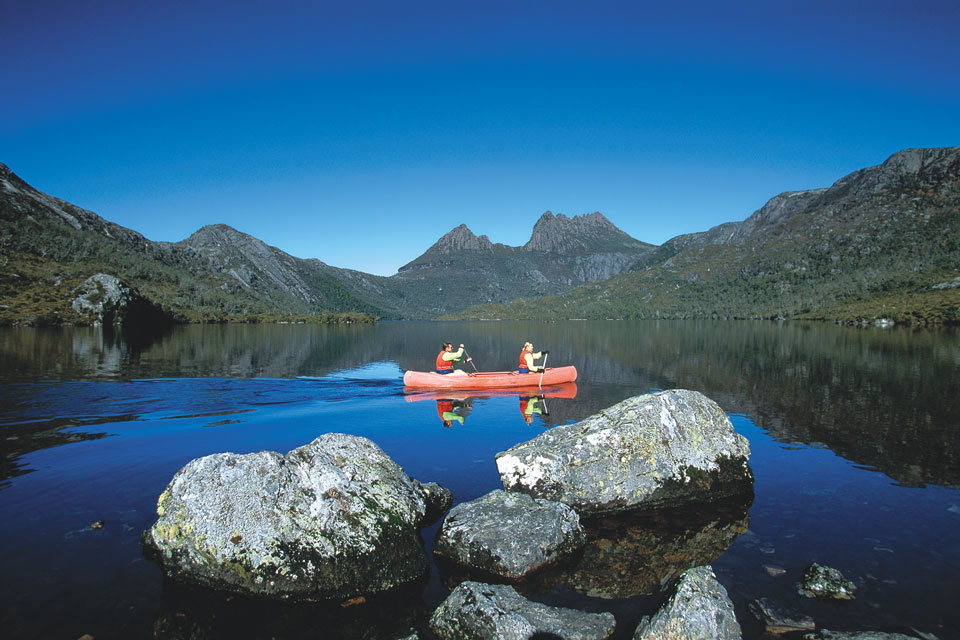 Canoeing in Cradle Mountain