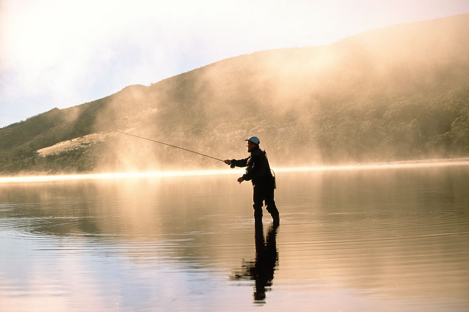 Fly Fishing at Cradle Mountain