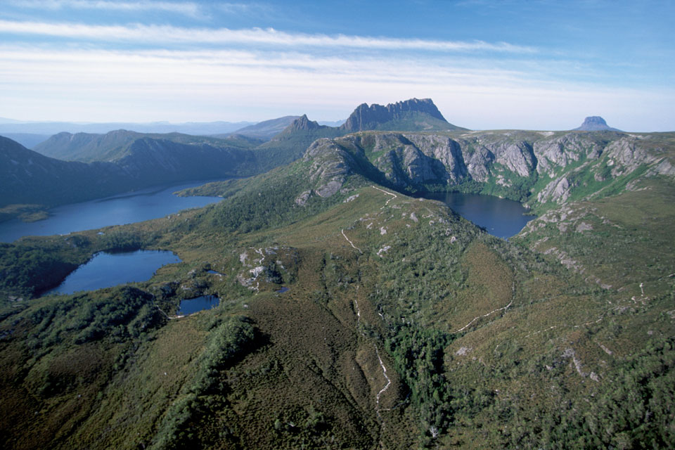Helicopter flights around Cradle Mountain
