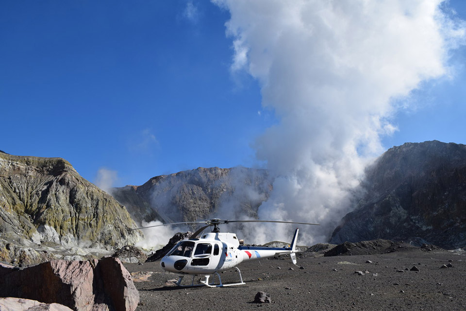 Book a helicopter tour around Rotorua